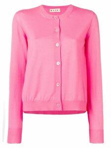 Marni crew neck cardigan - Pink