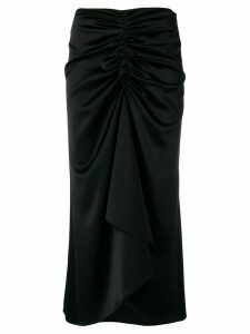 Ssheena draped midi dress - Black