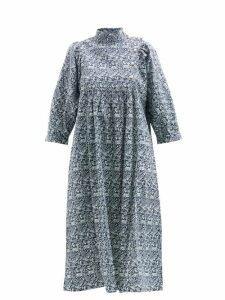 Gucci - Web Stripe Print Silk Scarf - Womens - Green