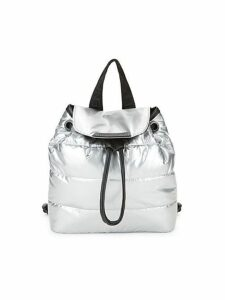 Small Metallic Quilted Backpack