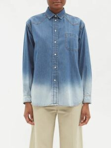 Batsheva - Gingham And Floral Print Tiered Cotton Skirt - Womens - Red White