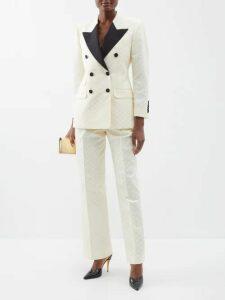 Batsheva - Kate Gingham Print Cotton Dress - Womens - Red White