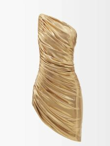 Rebecca De Ravenel - Floral Print Cotton And Silk Blend Wrap Midi Dress - Womens - Blue Multi