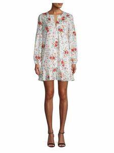 Floral-Print Mini Shift Dress