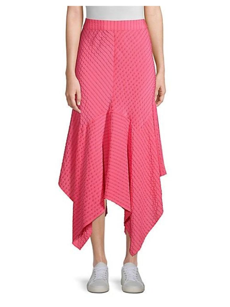 Lynch Silk-Blend Handkerchief Midi Skirt
