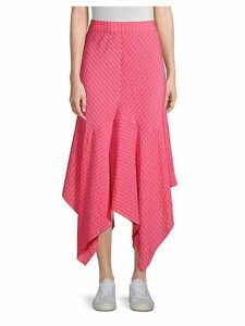 Lynch Silk-Blend Handkerchief Midi Skirt