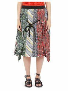 Silk Multi-Print Skirt