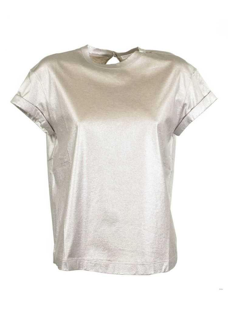 Brunello Cucinelli Crew Neck Top