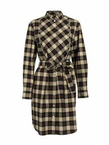 Burberry Checked Shirt Dress