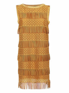 Alberta Ferretti Fringed Mini Dress