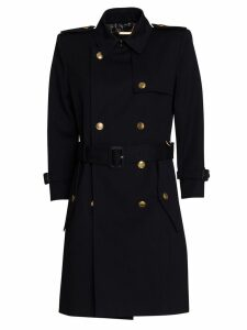 Givenchy Cotton Trench In Blu Navy