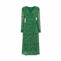 Kitri Jody Cherry Print Wrap Dress