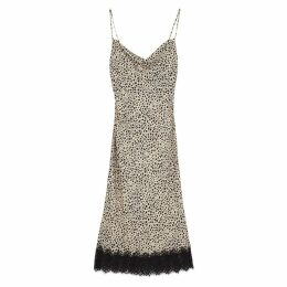 Rebecca Vallance Anya Leopard-print Slip Dress