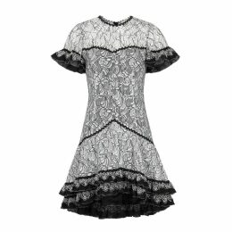 Jonathan Simkhai Monochrome Lace Mini Dress