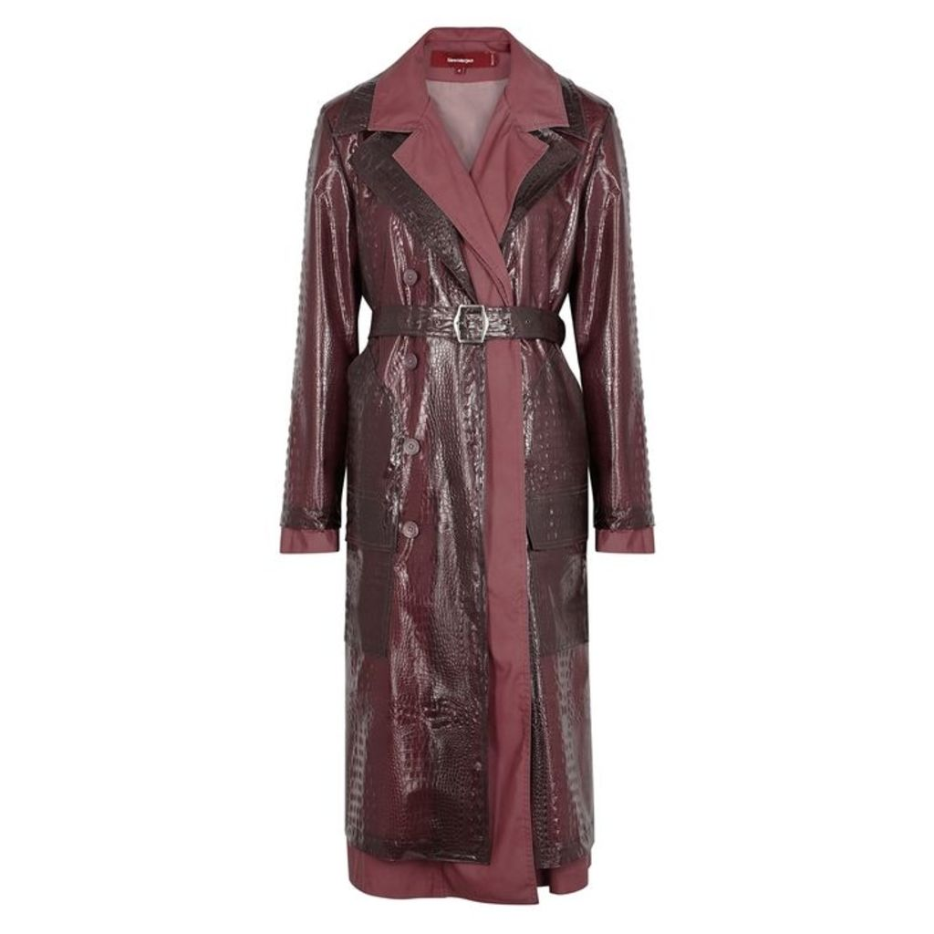 Sies Marjan Purple PVC And Shell Coat