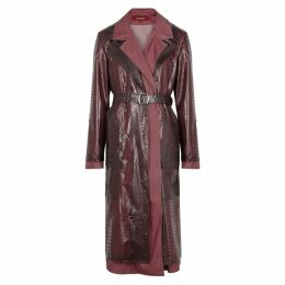 Sies Marjan Purple PVC And Shell Coat