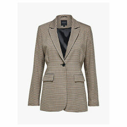 Selected Femme Margery Check Blazer, Brown