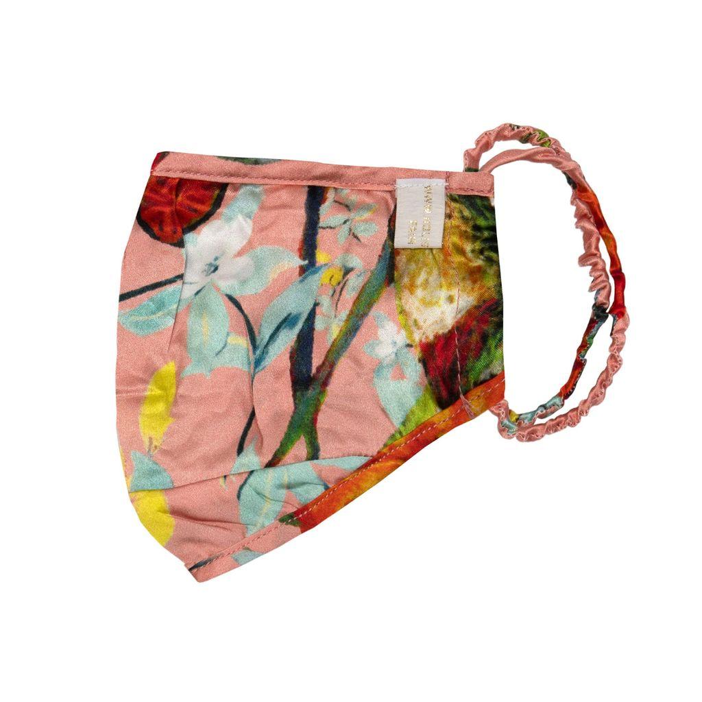 WtR - Sheena Red Crepe Asymmetric Drape Skirt