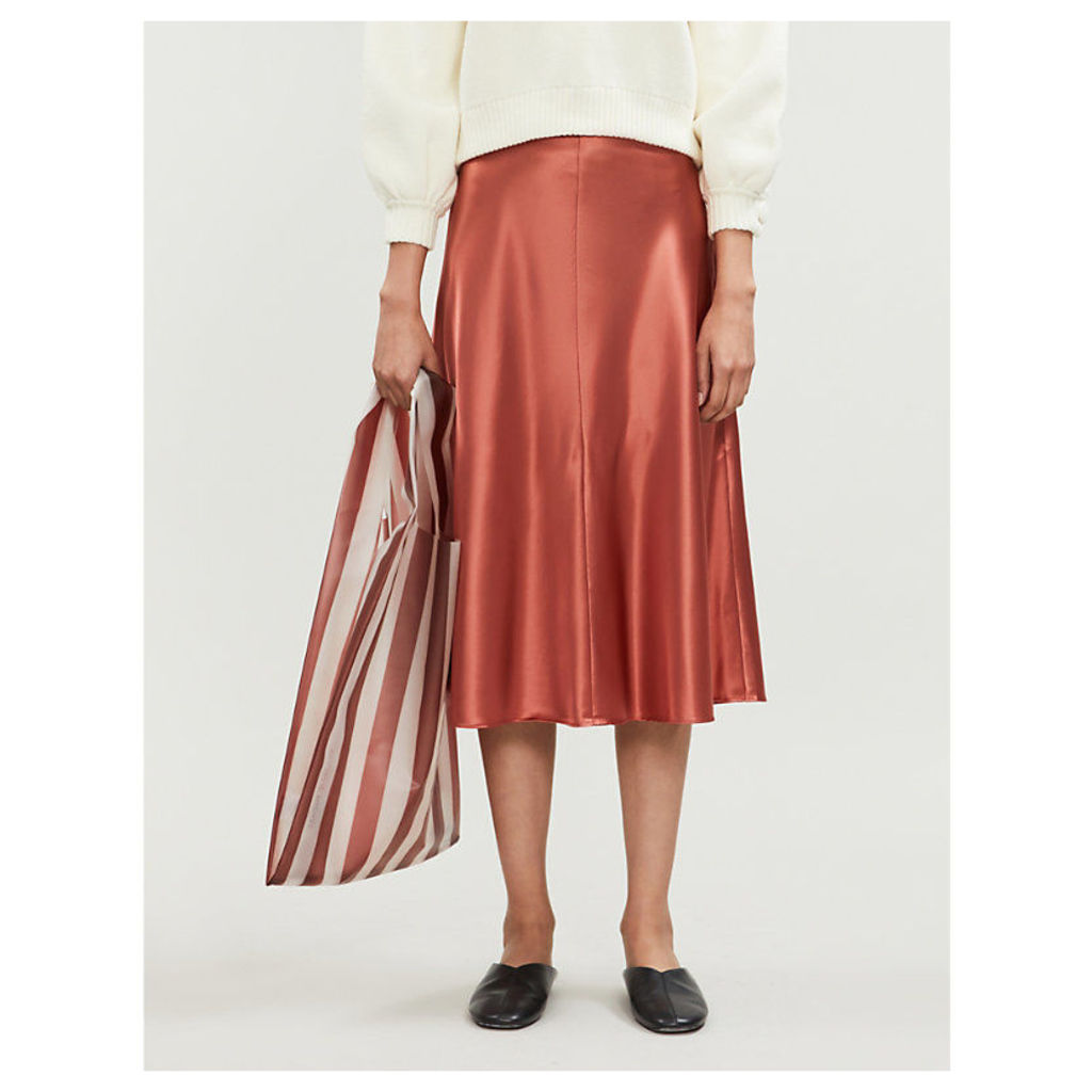Heaston flared satin skirt