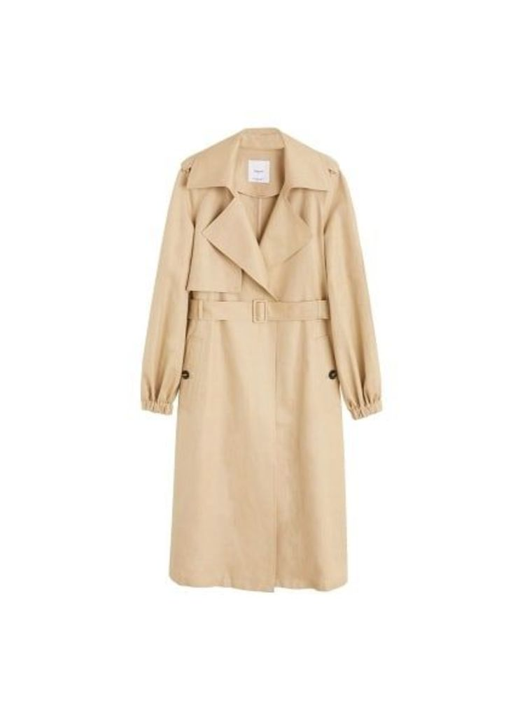 Linen trench
