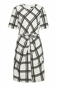Steffen Schraut Printed Draped Dress