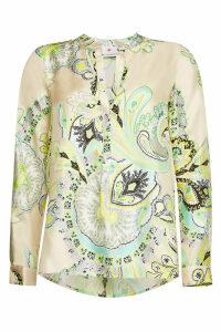 Herzensangelegenheit Paisley Print Silk Blouse
