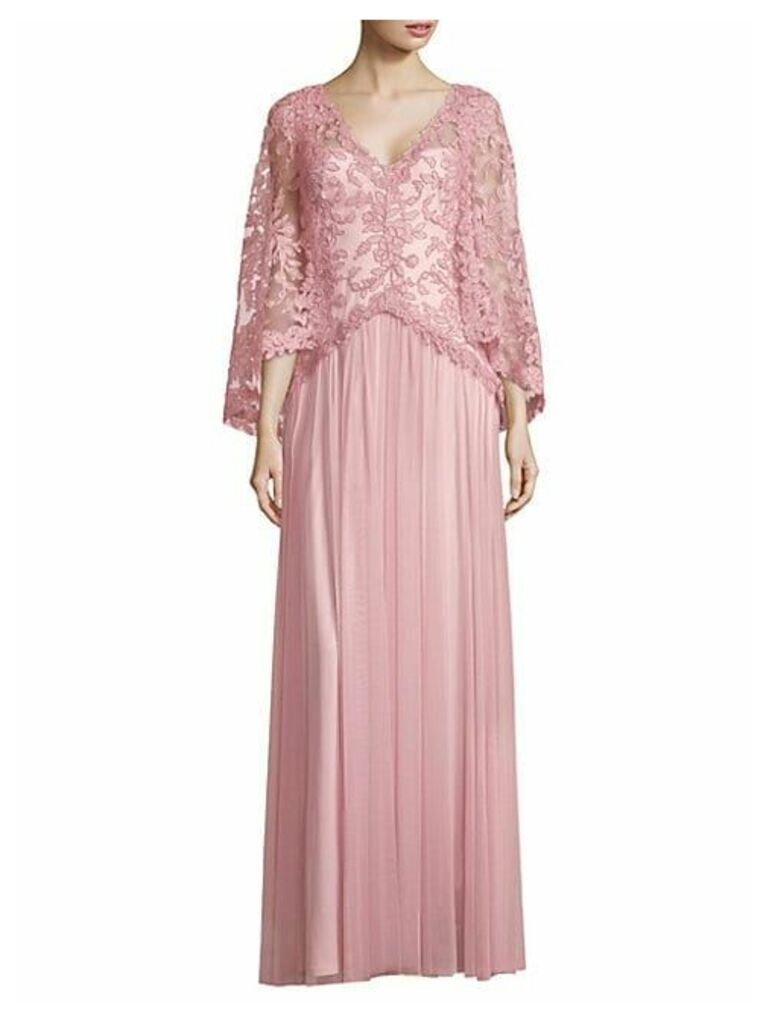 Lace Floor-Length Gown