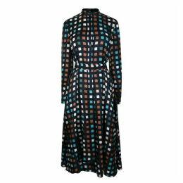 BOSS SMART CASUAL Cube Print Silk Dress