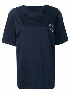 Fendi Pre-Owned 1980's rhinestone logo T-shirt - Blue