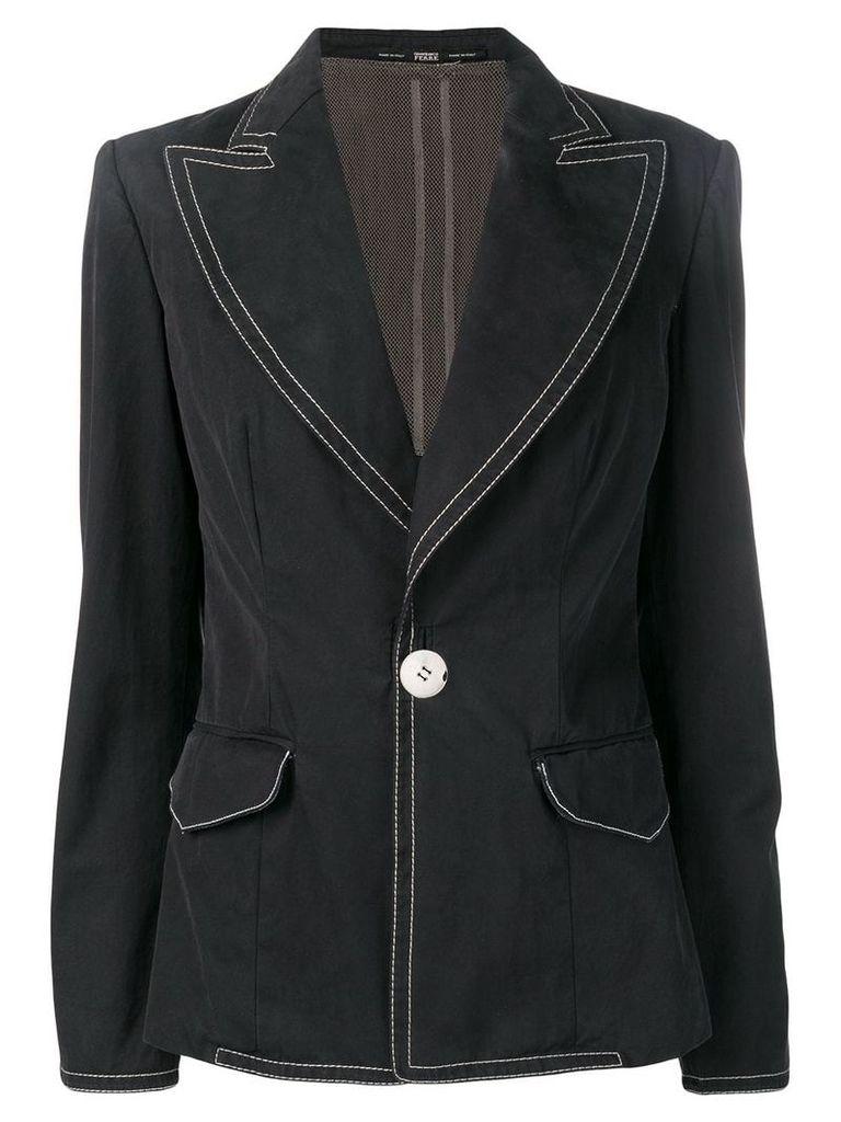 Gianfranco Ferre Vintage 1990's stitching details blazer - Black