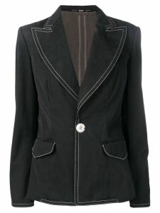 Gianfranco Ferré Pre-Owned 1990's stitching details blazer - Black