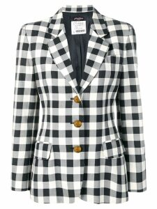 Moschino Pre-Owned 1990's checked slim blazer - Black