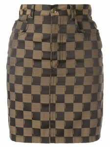 Fendi Pre-Owned logo skirt - Brown