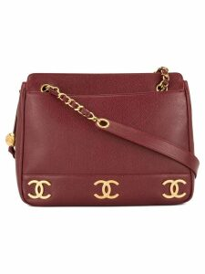 Chanel Pre-Owned chain shoulder tote bag - Red