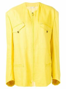 Versace Pre-Owned 1980'S zip-front jacket - Yellow