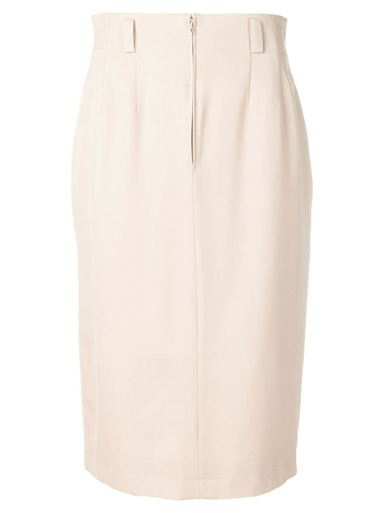 Jean Louis Scherrer Pre-Owned 1990's mid-length skirt - Neutrals