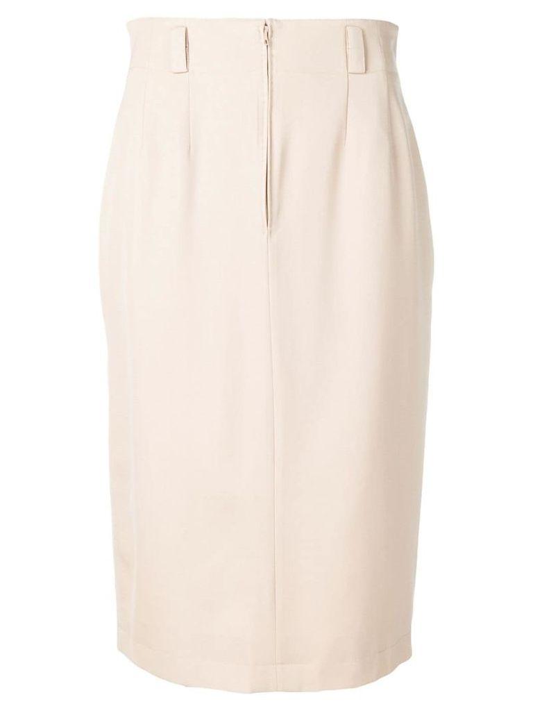 Jean Louis Scherrer Vintage 1990's mid-length skirt - Neutrals