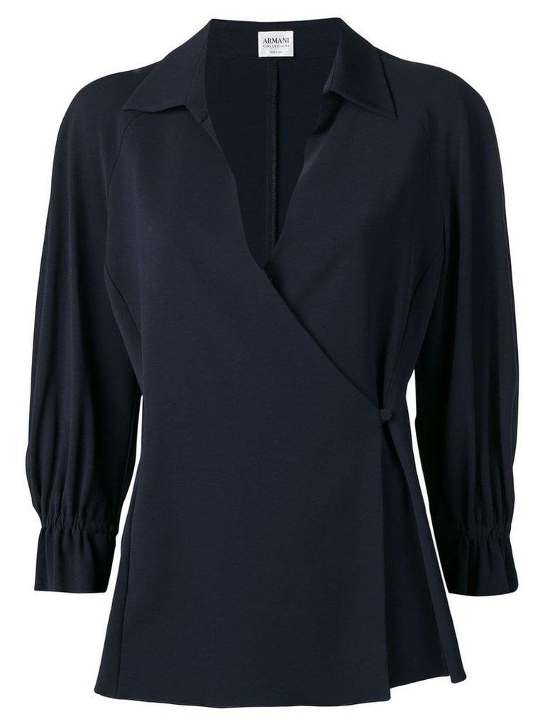 Giorgio Armani Vintage 2000's envelope blouse - Black