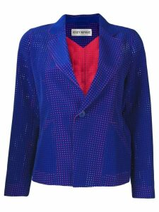 Issey Miyake Pre-Owned netted blazer - Blue