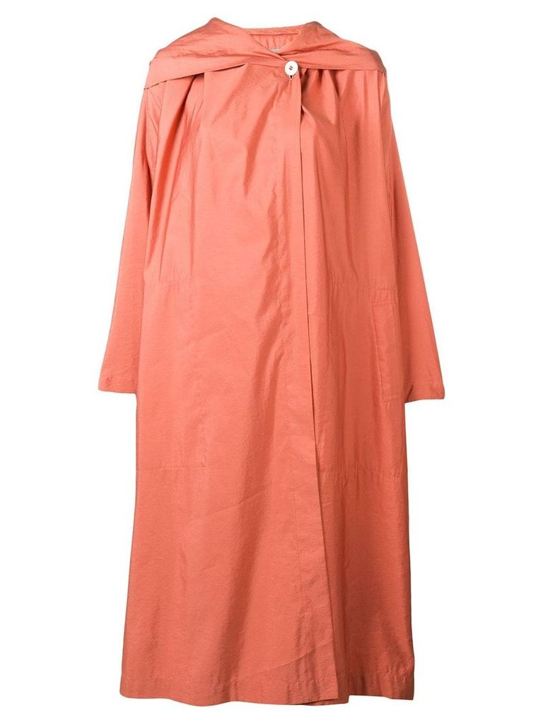 Issey Miyake Vintage light hooded coat - Pink