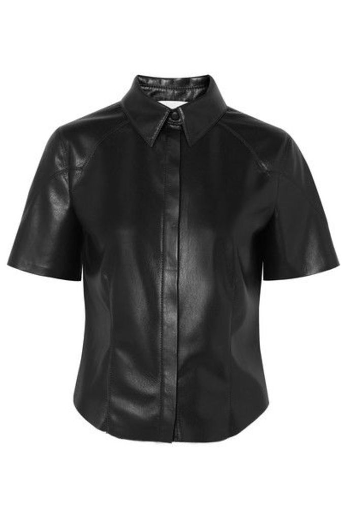 Nanushka - Clare Vegan Leather Shirt - Black
