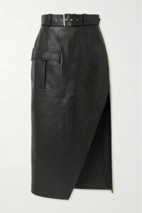 Paco Rabanne - Broderie Anglaise Cotton-poplin Midi Dress - Blue