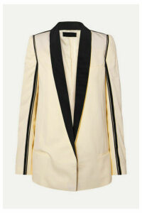 Haider Ackermann - Grosgrain-trimmed Twill Blazer - Neutral