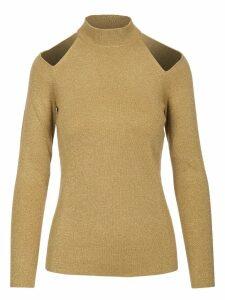 Michael Kors Wool Solid Cutout Sweater