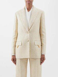 Burberry - Portrait Print Logo Silk Scarf - Womens - Orange