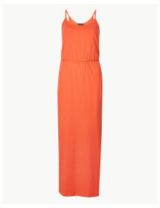 M&S Collection Pure Cotton Waisted Maxi Dress