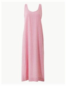 M&S Collection Linen Rich Shift Midi Dress