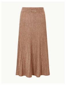 M&S Collection Textured Knitted Midi Skirt