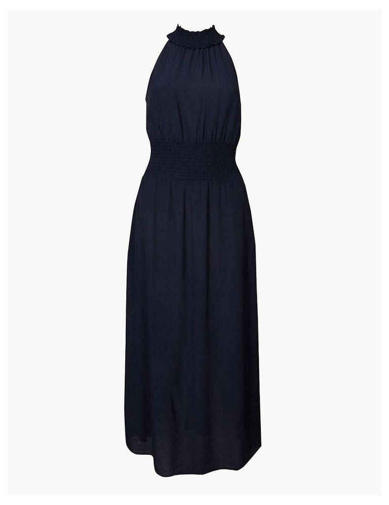 M&S Collection Halter Neck Waisted Midi Dress