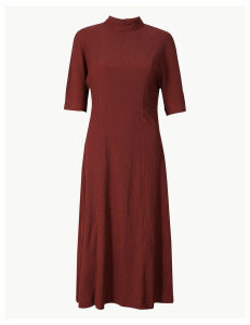 M&S Collection Textured Jersey Column Midi Dress